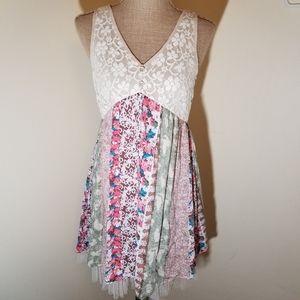 "Aniina boho style floral & lace ""festival dress"""